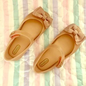 Mini Melissa baby pink bow shoes size 10
